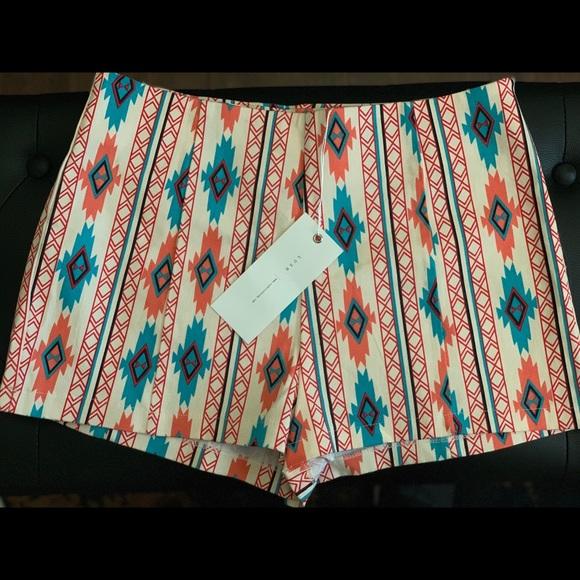 Lush Pants - NWT Lush Bohemian/Aztec Mid Rise Shorts